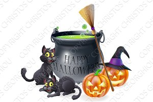 Happy Halloween Cartoon Illustration