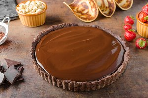 Delicious caramel chocolate tart