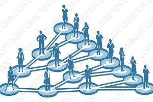 Viral Marketing Business Network Concept