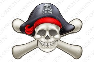 Skull and Cross Bones Pirate