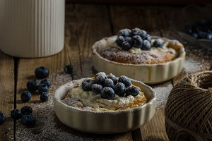 Rustic style cheesecake