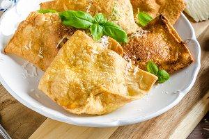 Fried ravioli stuffed