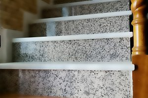 Stairs with marble and granite