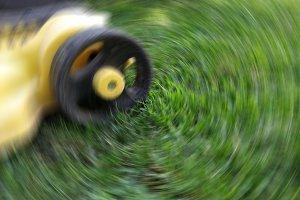 Mower in full action