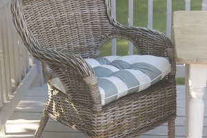 Wicker Chair on Deck