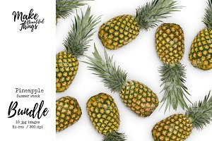 Pineapple stock photo bundle