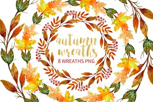 Autumn Wreaths Clipart