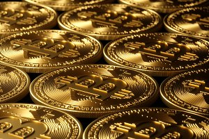 Bitcoin gold background high resolution