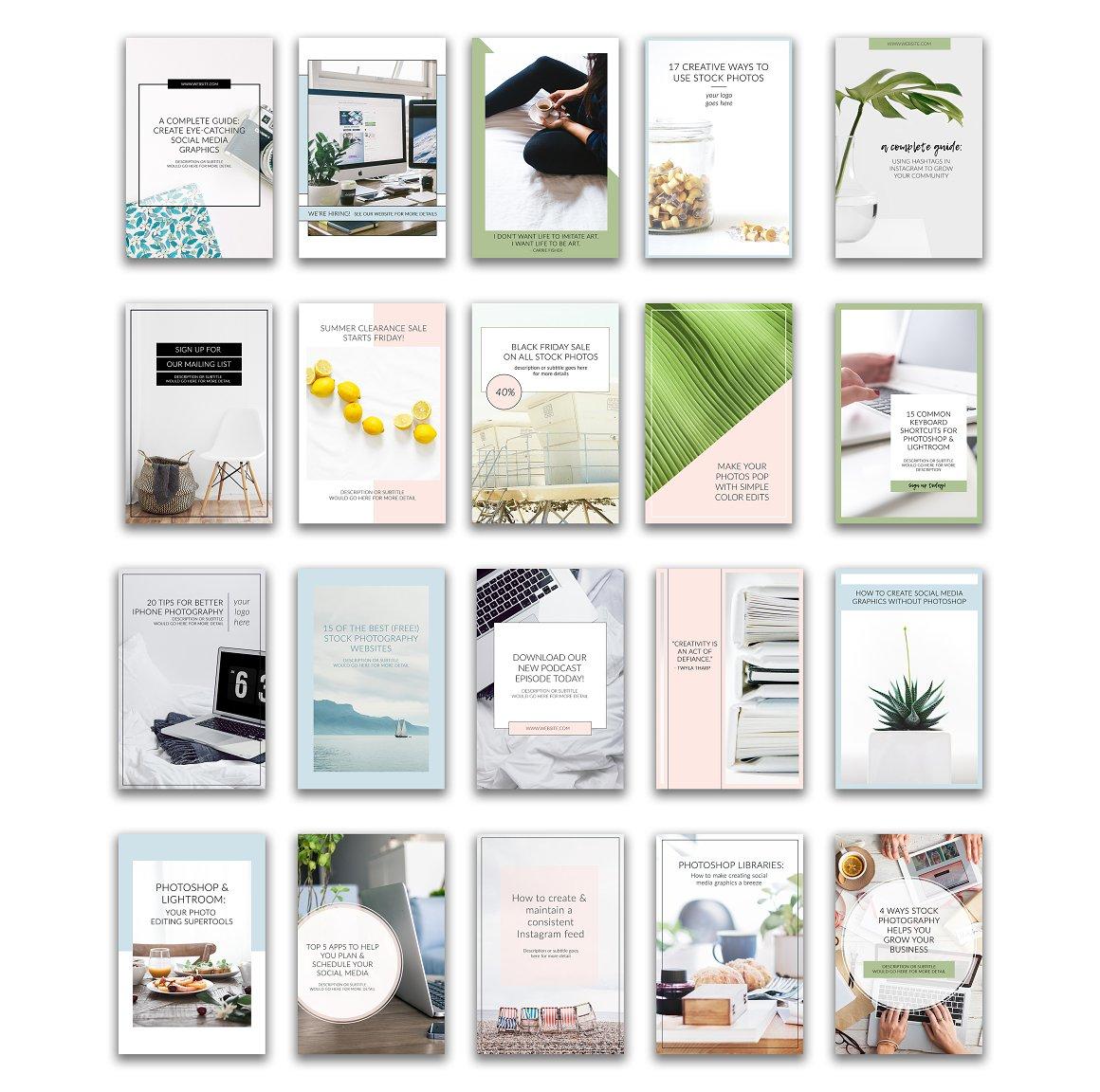 Pinterest Templates Vol 1