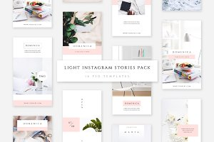 Light Instagram Stories Pack