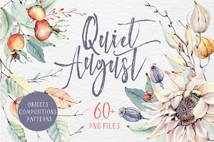 QUIET AUGUST watercolor set