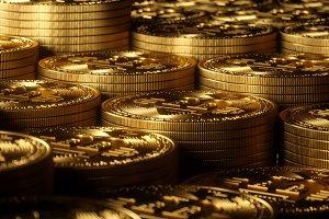 Bitcoin gold background high resolution