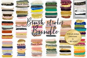 Brush strokes BUNDLE