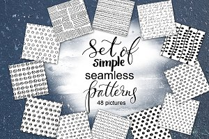 Megaset of simple seamless patterns