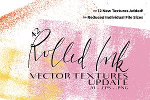 Rolled Ink Vector Textures