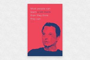 Elon Musk Vector + Poster