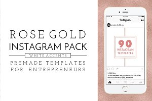 Rose Gold and White Instagram Pack