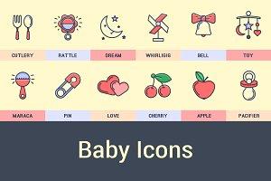 Set Baby Icons.
