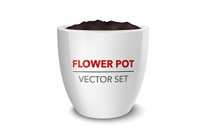 Vector flower pot set.