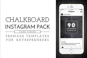 Dark Chalkboard Instagram Pack