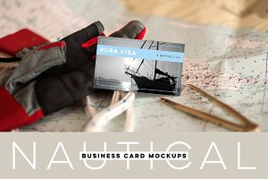 Nautical Business Card Mockups