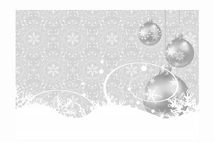 Christmas Ball Grey Background