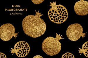 GOLD POMEGRANATE set.