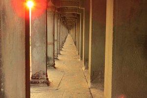 Angkor Wat temple corridor