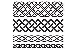 Set of Celtic Pattern Borders