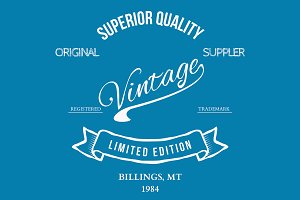 Vintage retro, t-shirt typography