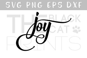 Joy SVG PNG EPS DXF Calligraphy SVG