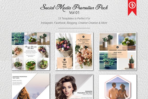 Social Media Promotion Pack-Graphicriver中文最全的素材分享平台