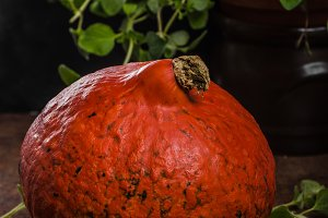 Hokkaido pumpkins rustic