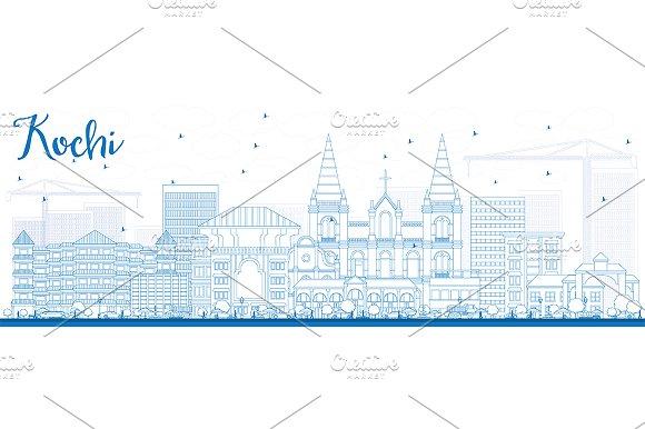 Outline Kochi Skyline