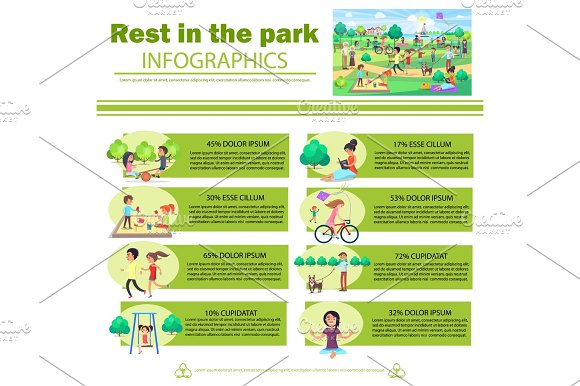 Rest In Park Infographics Poster With Pictures