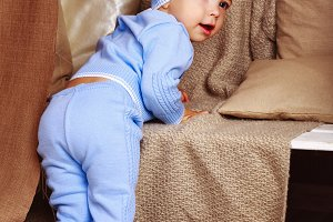 Baby in pajamas