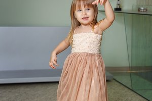 Little girl in a beautiful dress