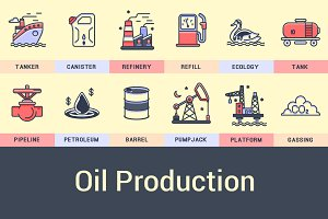 Oil Industry Icons.