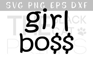 Girl boss SVG PNG EPS DXF