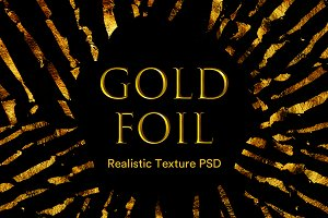 Realistic Gold Foil Texture Pack