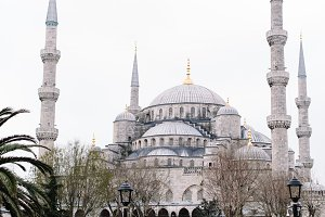 Sultan Ahmed Mosque (Blue Mosque) in Istanbul, Turkey in the morning