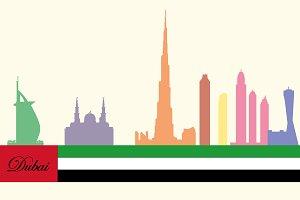silhouette of Dubai