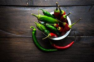 Organic  chilli pepper concept