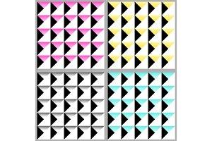 Cute 80's style seamless geometric pattern