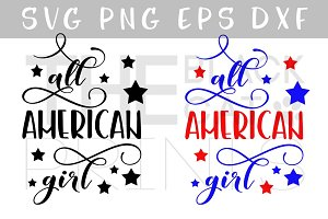 All American girl SVG PNG EPS DXF