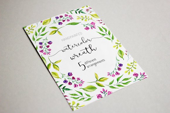 Watercolor wedding clipart -Graphicriver中文最全的素材分享平台
