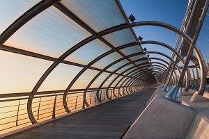 Abstract close up of a bridge