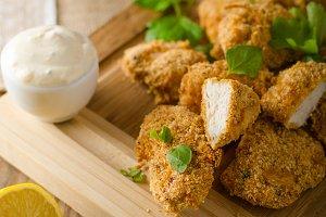 Chicken popcorn with garlic