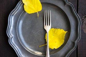 Autumna table setting