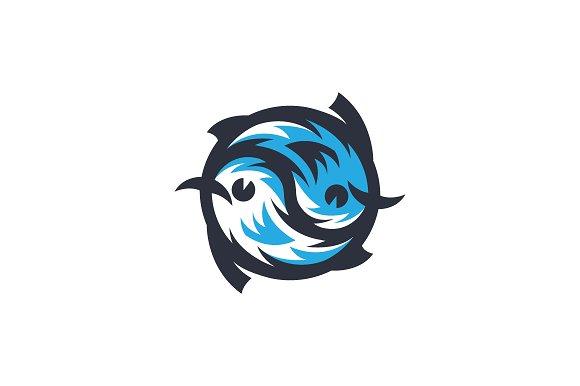 Ying Yang Fish Logo